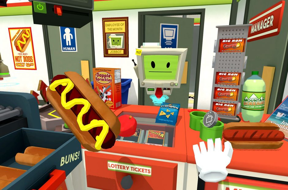 Good haptic feedback and hand tracking are what make Job Simulator feel just right to the player