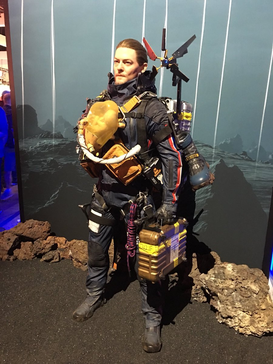 There was plenty of cool stuff on display this year, including this creepy Norman Reedus statue for Death Stranding