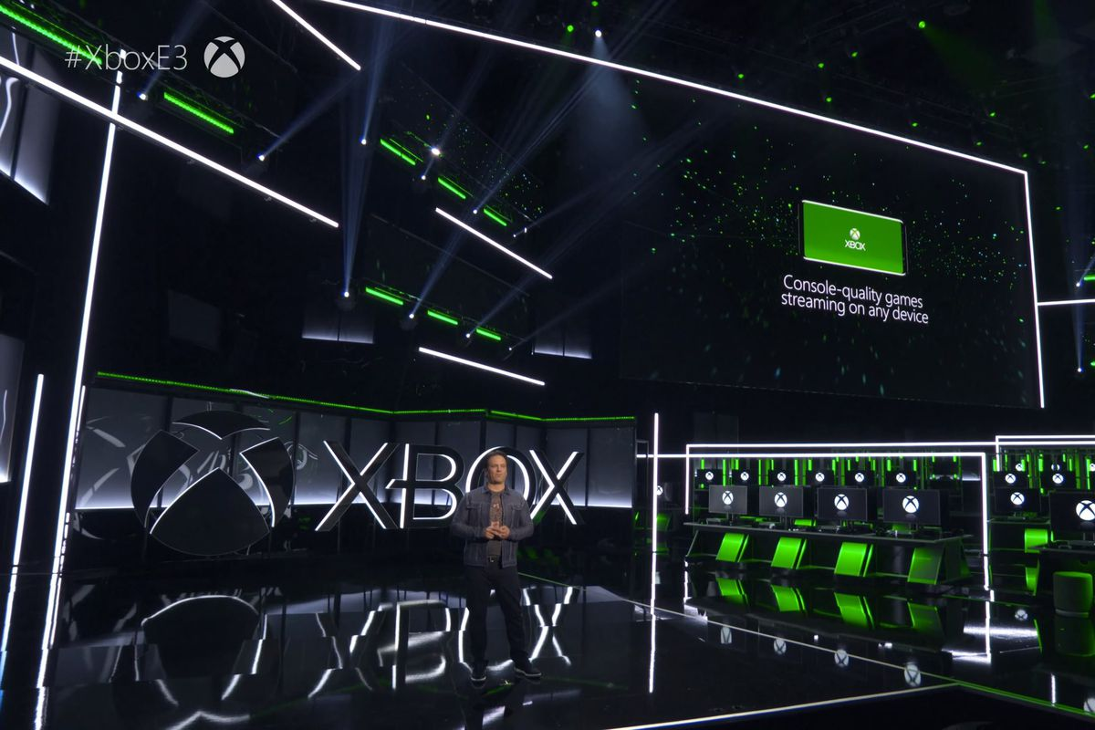 Xbox chief Phil Spencer talking about the cloud at E3 (Image source: The Verge)