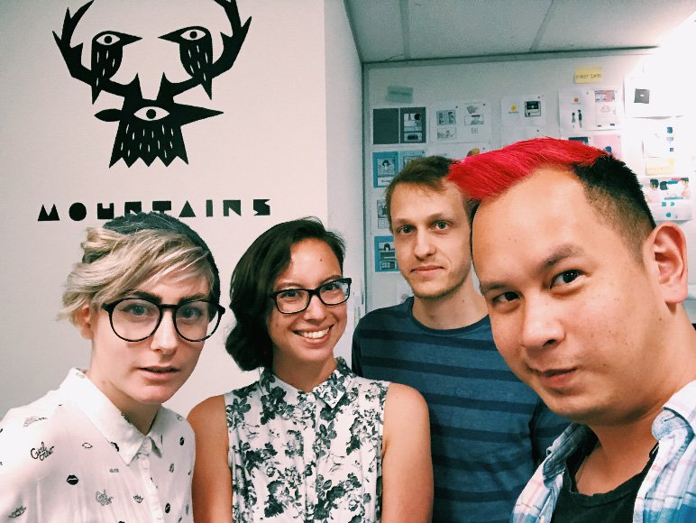 The small Mountains team in Melbourne (Image: Mountains)