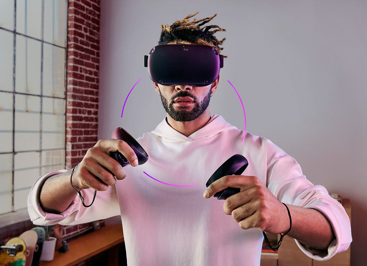 Oculus Quest has 4 external sensors to power its tracking (Image: Oculus)