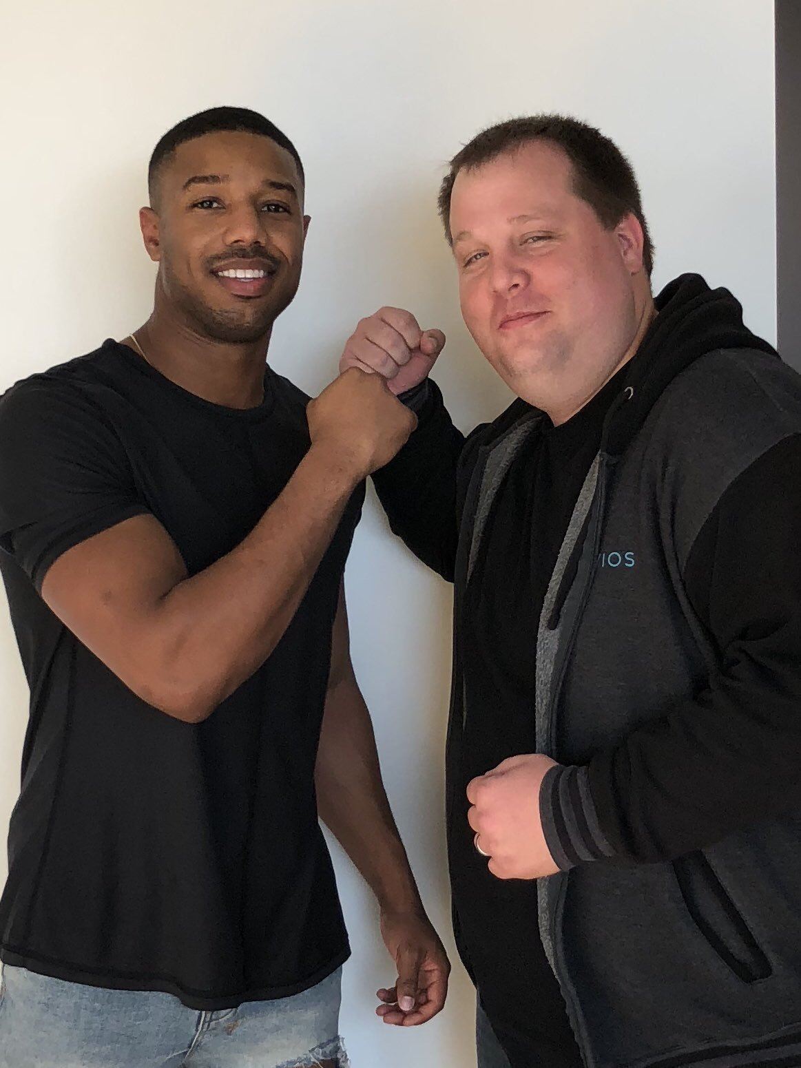 Mike McTyre with Creed actor Michael B. Jordan (Image: Twitter)