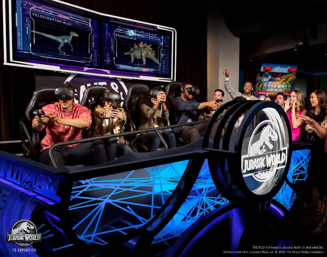 Jurassic World VR Expedition at Dave & Buster's