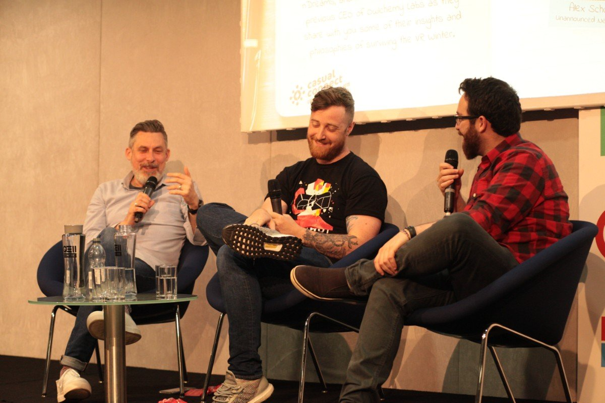 From left to right: Tagger, Underwood, Schwartz (Image: Casual Connect)