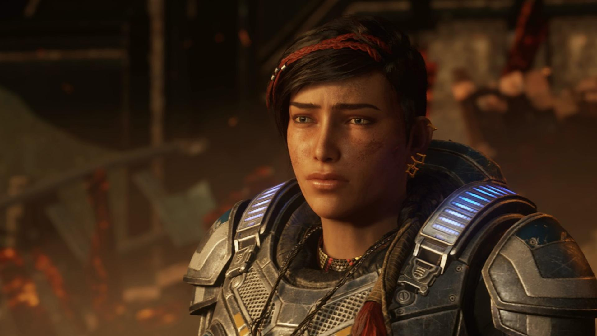 Kait Diaz, the first female lead in a Gears game