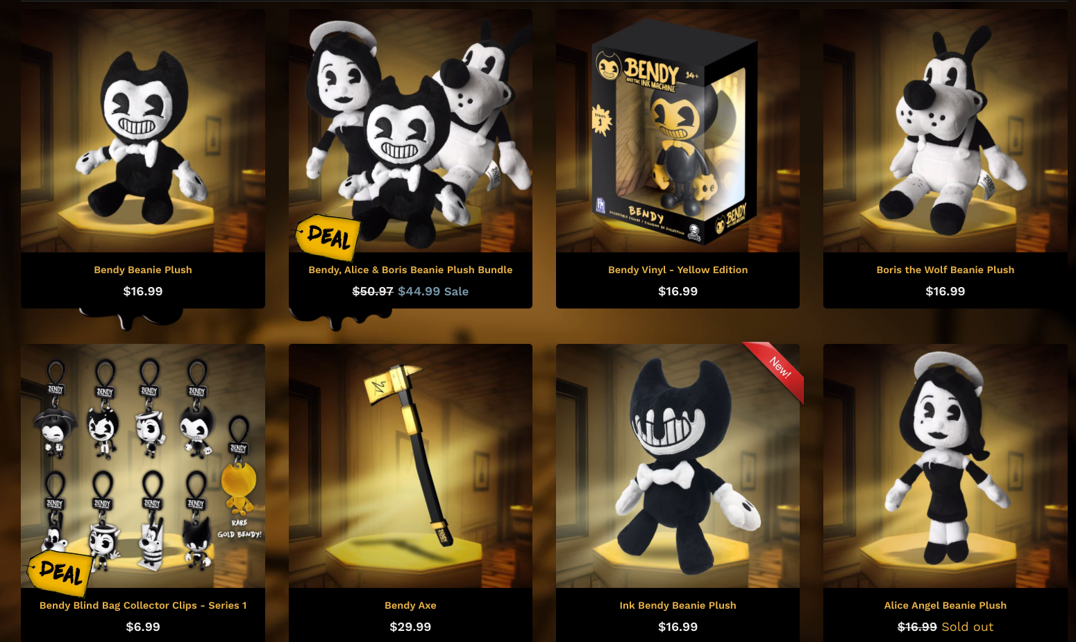 Bendy has seen all kinds of associated merch for sale