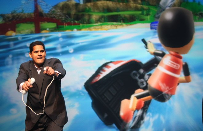 Reggie's passion for gaming always came through (Image: Wired)